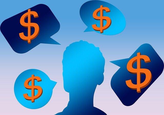 myšlenky na peníze