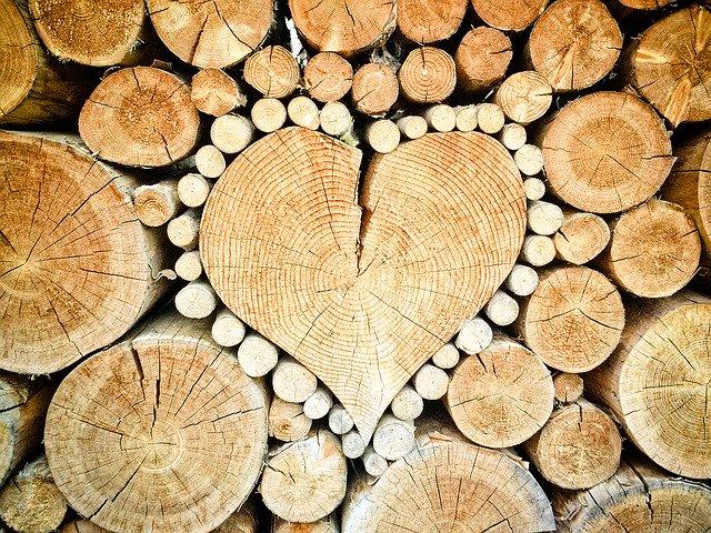 srdce z klád