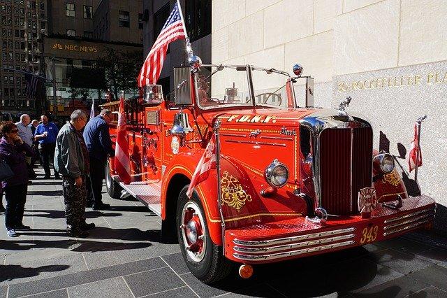 starožitný hasičský vůz