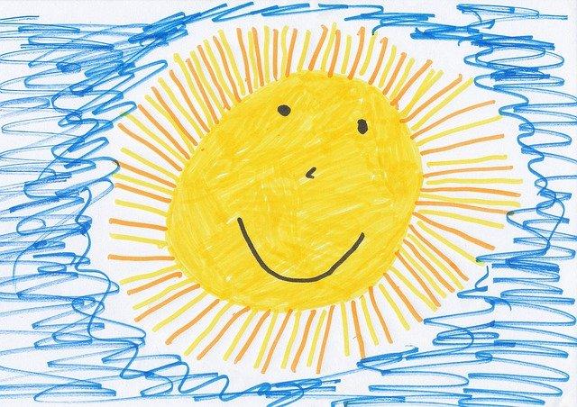 dětská kresba slunce