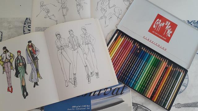 pastelky a módní návrhy