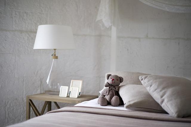 medvídek v posteli