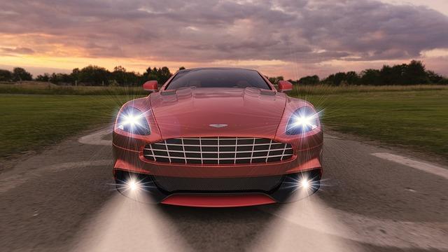 sportovní vůz rychlost světlo