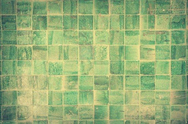 zelené dlaždice
