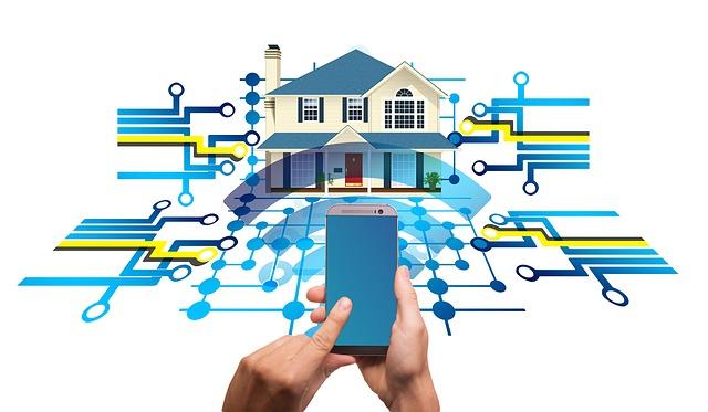 Domácnost propojená s technologiemi