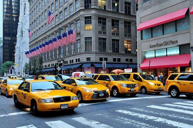 taxíky na Manhattanu